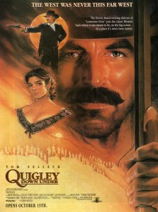 Quigley Down Under | Quigley Down Under Movie Poster | 1990 | Tom Selleck | Laura San Giocomo | Alan Rickman | Ron Haddrick | Tony Bonner | Chris Haywood | Ben Mendelsohn | Simon Wincer | www.myalltimefavoritemovies.com | www.myalltimefavorites.com