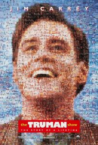 The Truman Show | The Truman Show Movie Poster | 1998 | Jim Carrey | Laura Linney | Ed Harris | Natasha McElhone | Noa Emmerich | Holland Taylor | Brian Delate | Peter Kraus | Paul Giamatti | Harry Shearer | Philip Baker Hall | Una Damon | Yugi Okumoto | Judy Clayton | Peter Weir | www.myalltimefavoritemovies.com | www.myalltimefavorites.com